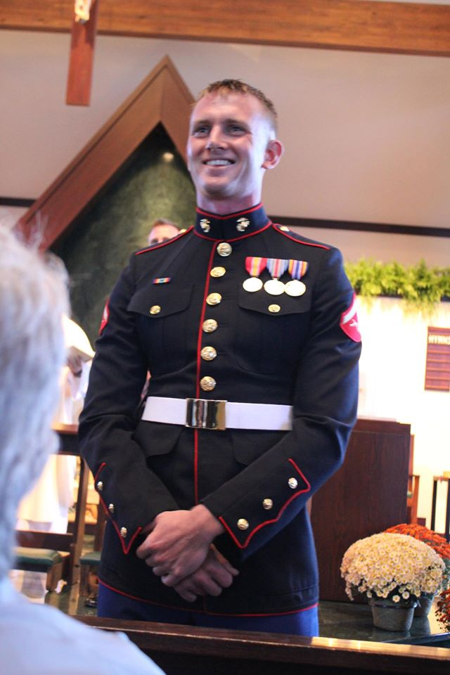 Peter Lucier attends a wedding before deploying in 2011. Photo courtesy of Peter Lucier.