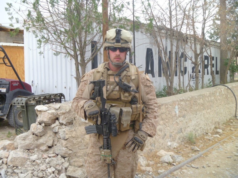 For seven months Michael Penney patrolled with Third Battalion, Seventh Marine Division in Helmand Province, Afghanistan. Photo courtesy of Michael Penney.
