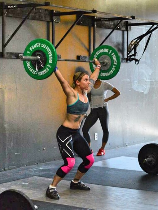 Tenley Lozano competing in an olympic weightlifting competition in 2014. Photo courtesy of Tenley Lozano.