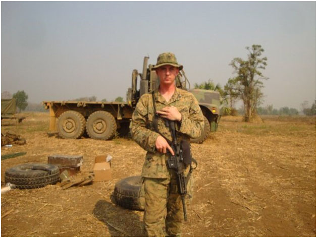 Robert served as a Motor Transport Operator during his deployment to Sukhothai, Thailand. Photograph courtesy of Robert Lucier.
