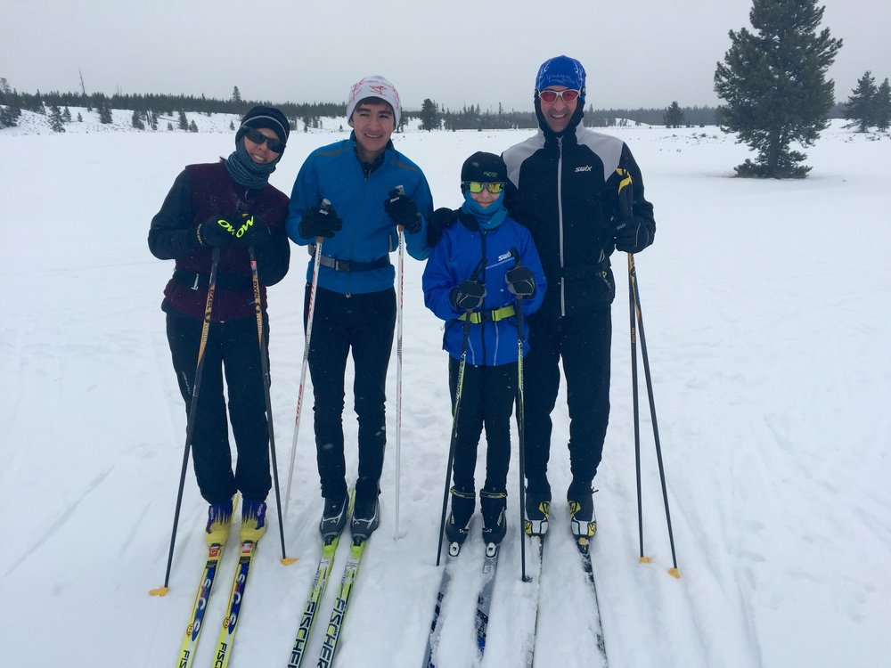 The Chandler family during a family cross-country ski outing near   West Yellowstone, Montana  . Photo courtesy of Eric Chandler.