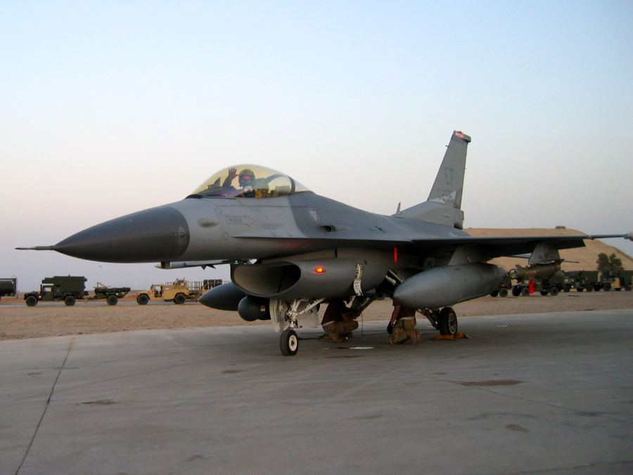 Eric Chandler was an F-16 pilot at Balad Air Base, Iraq in 2005. Photo courtesy of Eric Chandler.