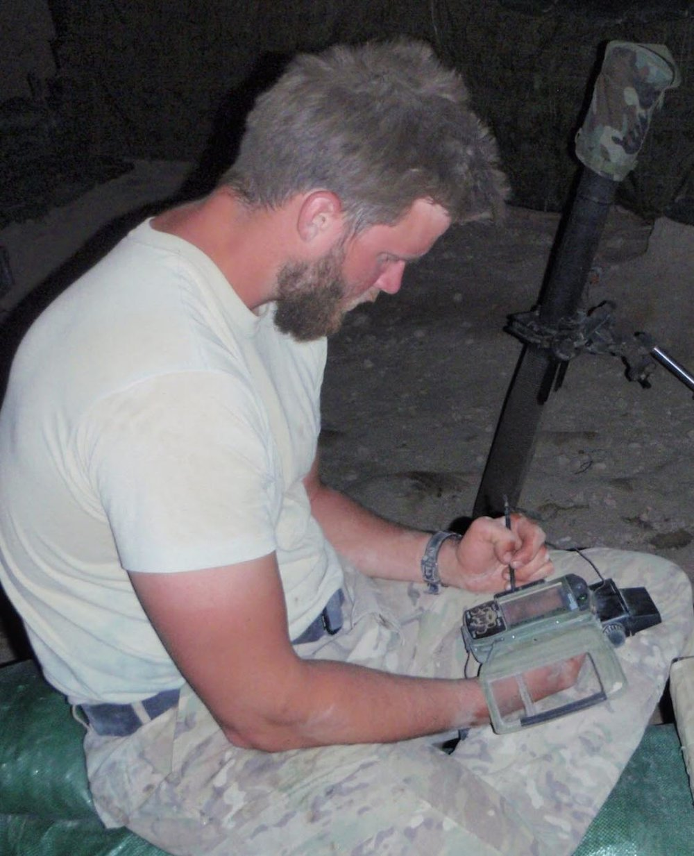 Noah Smith during Operation Enduring Freedom in Southeast Afghanistan. 2011. Photo courtesy of Noah Smith.