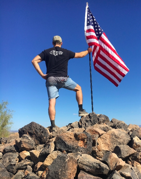 Following successful reconstructive surgery on his knee, William Gehrung climbed Thunderbird Mountain in Phoenix this year. Photograph courtesy of William Gehrung.
