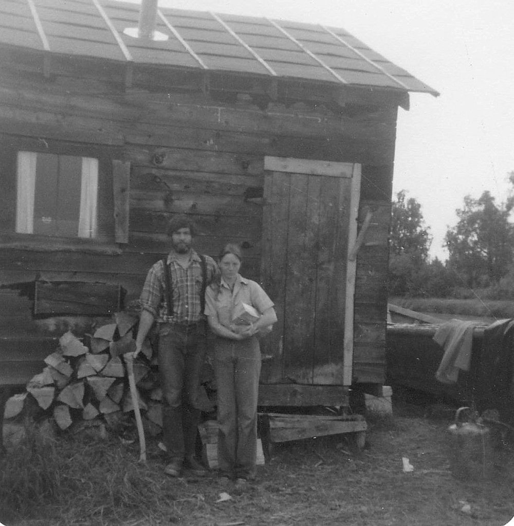 Elizabeth O'Herrin's father and mother stand for a picture in Alaska. Photo courtesy of Elizabeth O'Herrin