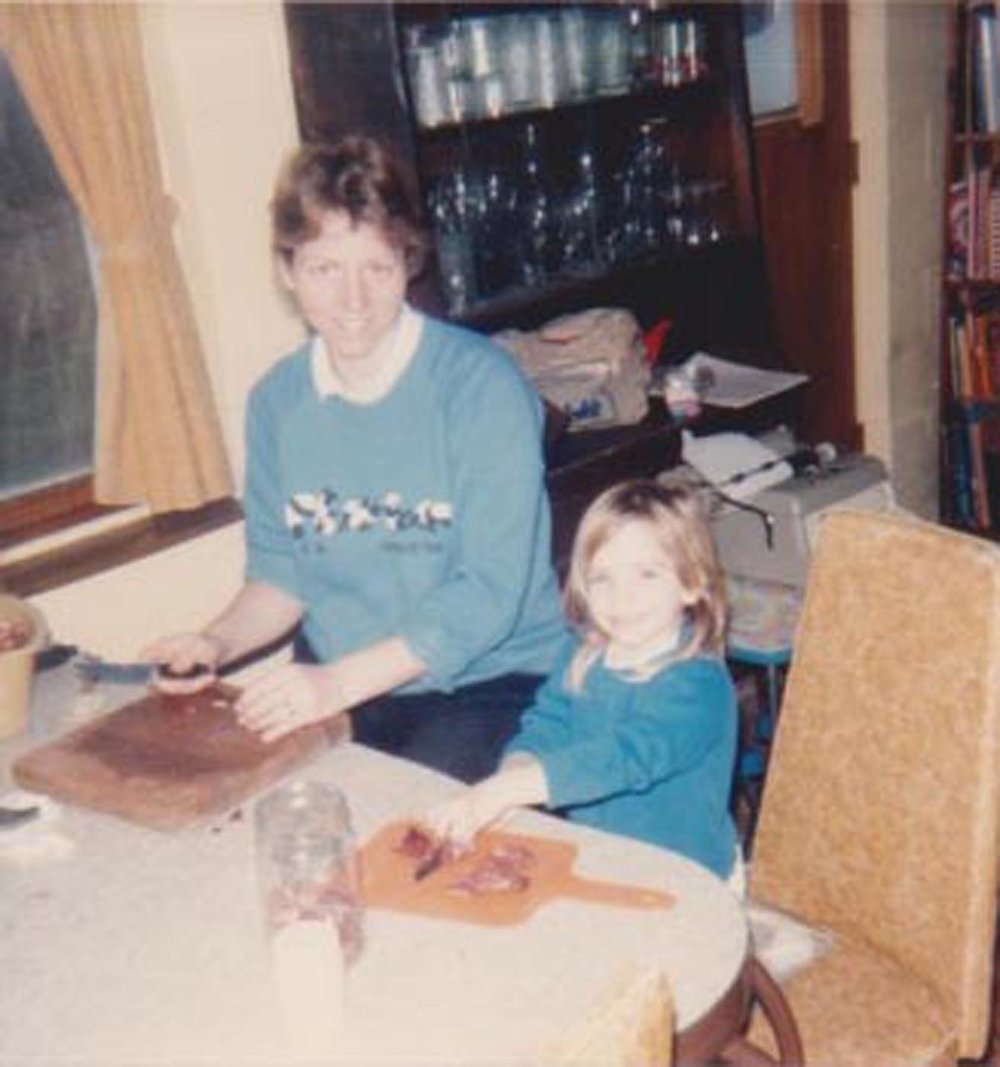 Elizabeth O'Herrin and her mother prepare freshly butchered venison for canning. Photo courtesy of Elizabeth O'Herrin