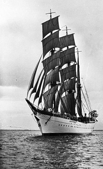 The Horst Wessel under Sail in 1936.