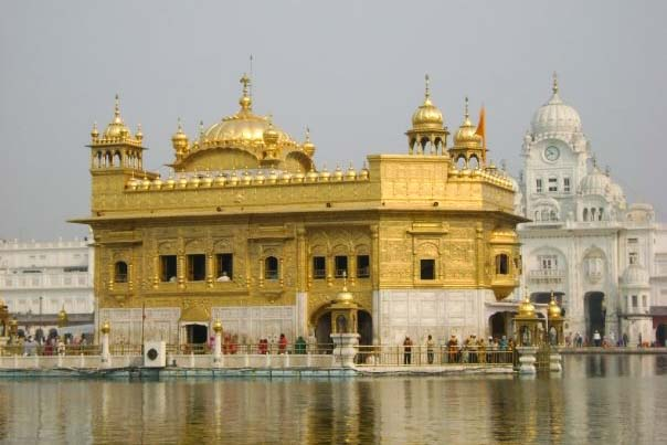 "A closer look at the Harmandir Sahib, or ""Abode of God,"" known as the Golden Temple. Courtesy of Teresa Fazio"