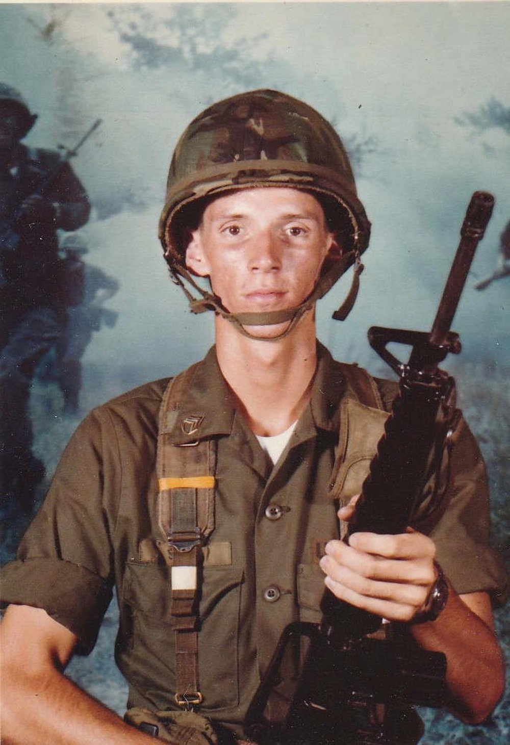 John Sims when he was a scared young private at the start of basic training, on August 6, 1980. Courtesy of John Sims.