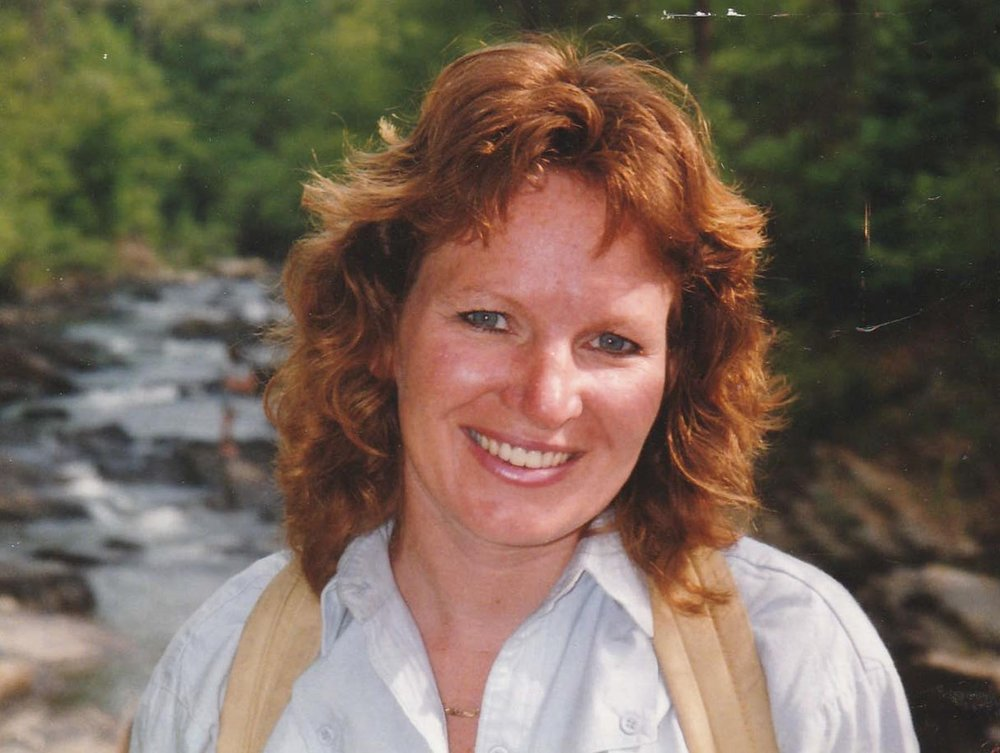 Theresa Sims on a hike (1986). Courtesy of John Sims
