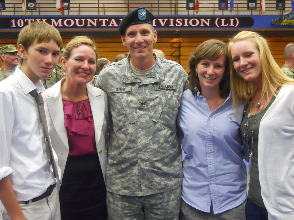 The Sims family welcomes John home from Afghanistan (2011). Courtesy of John Sims
