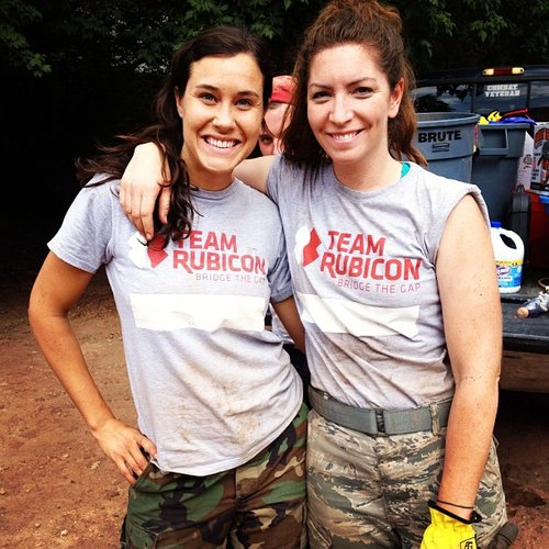 Elizabeth and Gina volunteering with flood relief efforts with Team Rubicon in Colorado Courtesy of Elizabeth O'Herrin