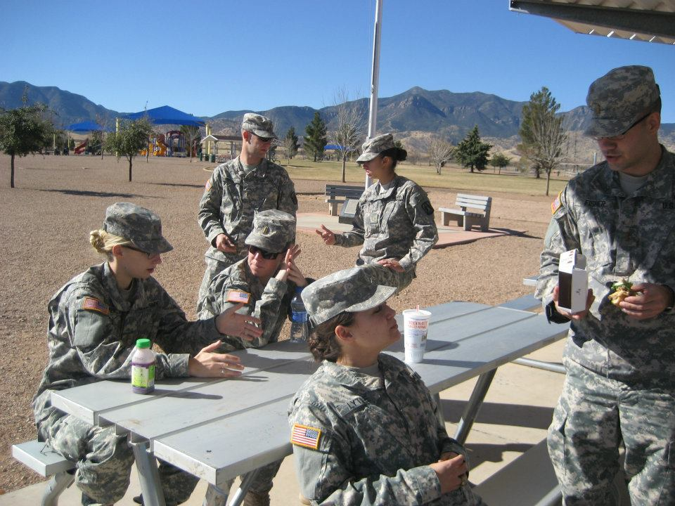 The author during Basic Officer Leader Course at Fort Huachuca, Arizona circa 2012. Courtesy of Nina Semczuk