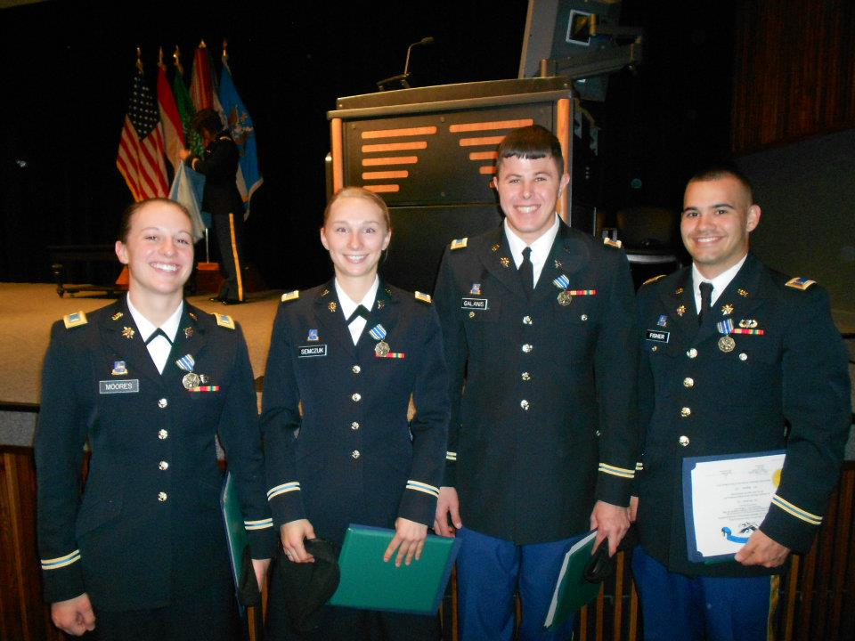 The author, second from left, during Basic Officer Leader Course at Fort Huachuca, Arizona circa 2012. Courtesy of Nina Semczuk