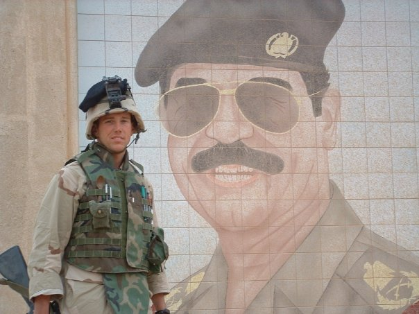 Liesel's husband, Tom, in Iraq in 2003. Courtesy of Liesel Kershul