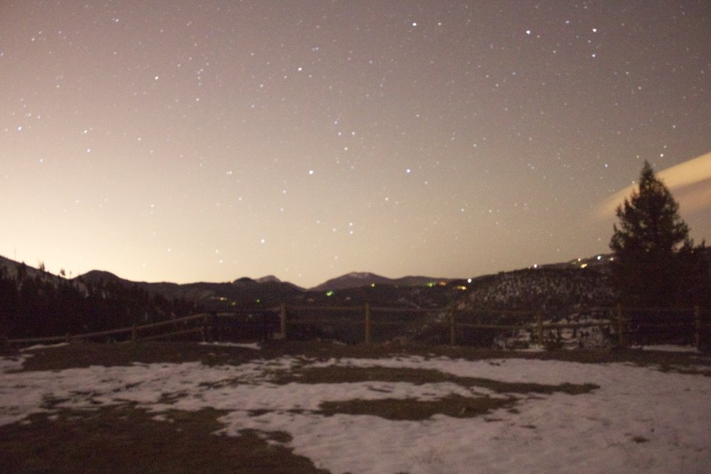 A starry evening in Colorado, 2012. Often times Dustin goes out, looks up, and thinks about my time overseas. Courtesy of Dustin Jones