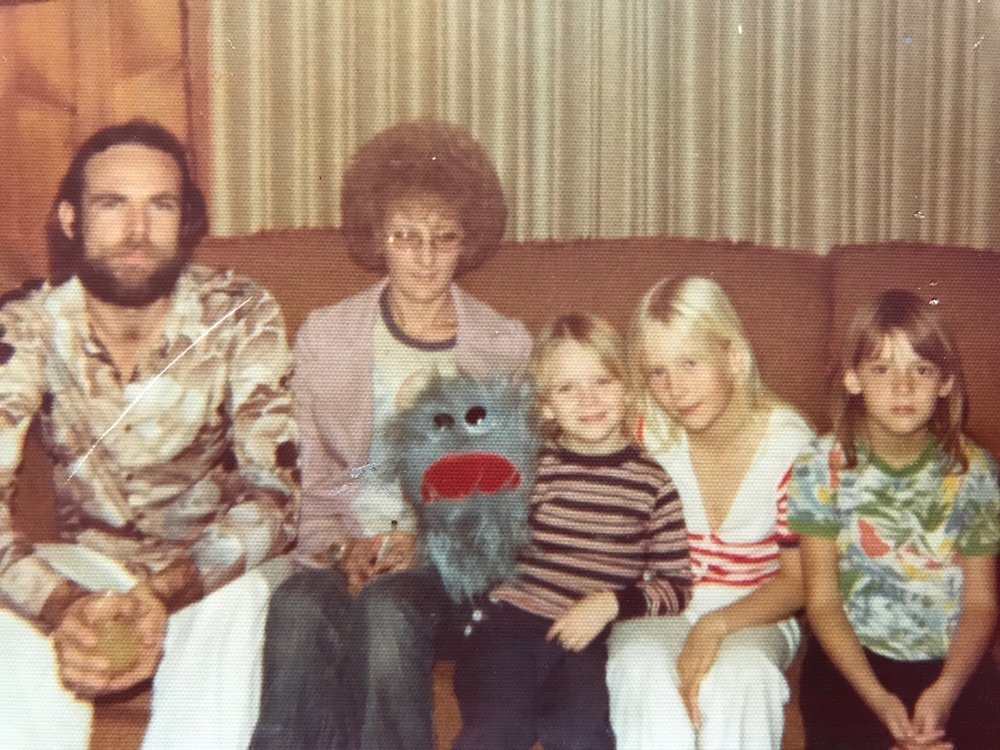 Joy Craig (middle) with her family, circa 1976. Courtesy of Joy Craig