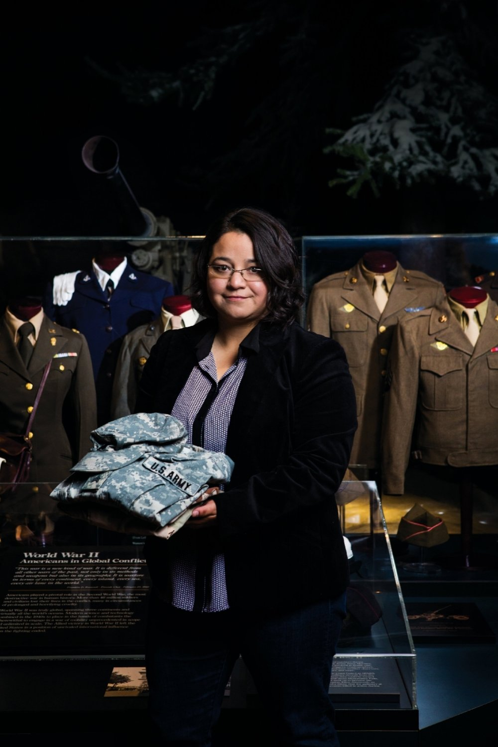 Yvette M. Pino - Yvette is a U.S. Army veteran and works at the Wisconsin Veterans Museum as the Traveling Art Exhibit Coordinator. Yvette deployed to Iraq from 2003-2004 and founded the Veteran Print Project after earning her Bachelor's of Fine Arts from the University of Wisconsin - Madison. Yvette exhibits her work nationally.