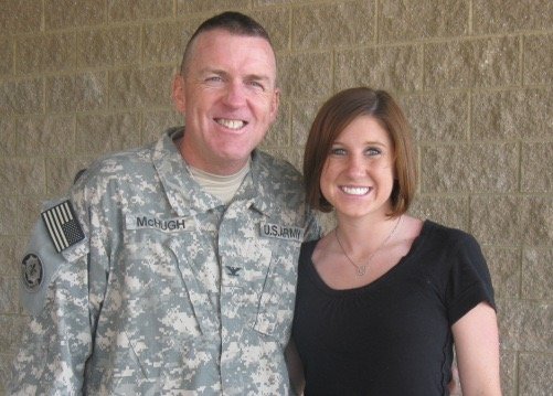Gold Star On Graduation Day - Kelly McHugh-Stewart's father died in Afghanistan on May 18, 2010. Since then she's had two separate graduations—both were on the anniversary of his death.Read her story.