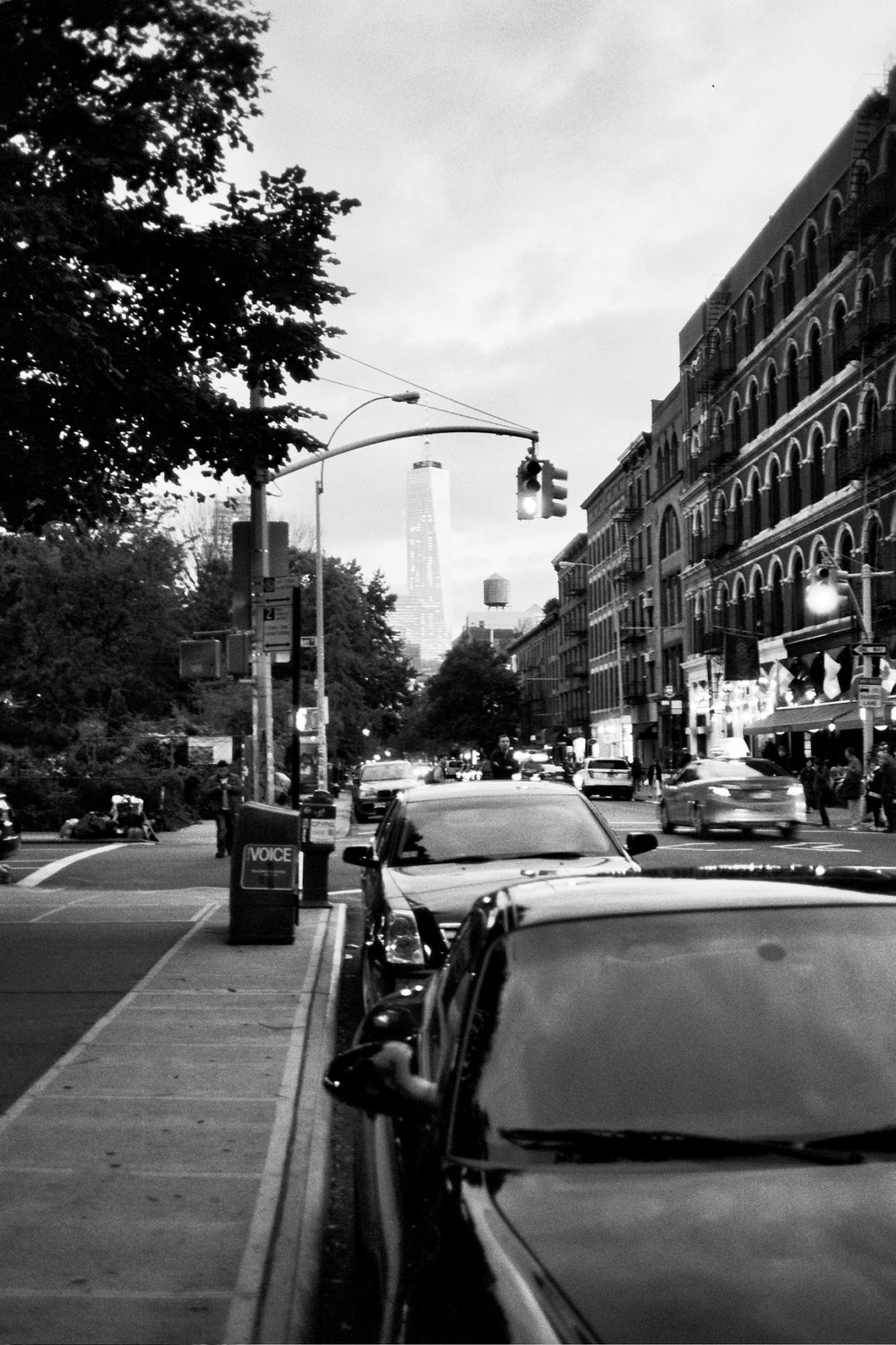 One Freedom Tower as seen from Greenwich Village. Courtesy of Drew Pham