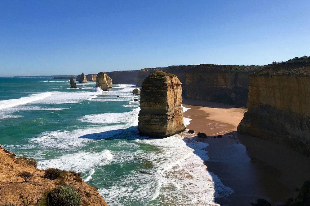A view of the Twelve Apostles in Twelve Apostles Marine National Park. Courtesy of Liz O'Herrin Lee