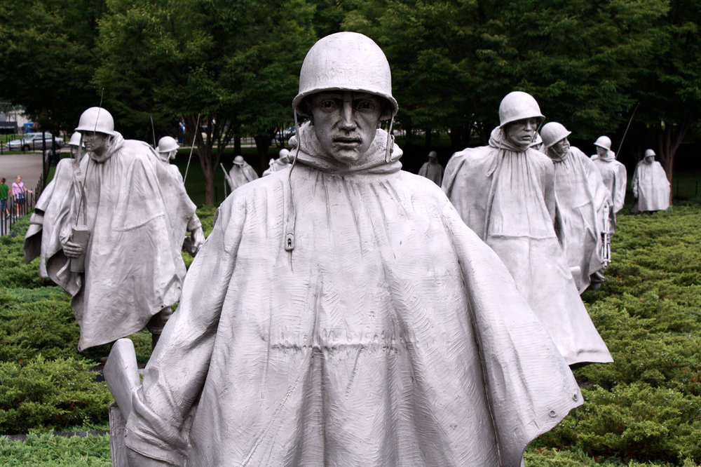 The Korean War Veterans Memorial in Washington, D.C., in 2011. Courtesy of Liz O'Herrin Lee