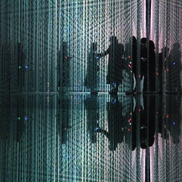 Tokyo, Museum of digital Arts, Koto City  #tokyo #japan #koto #japanese #digitalart #museumofdigitalart #museum #teamlabborderless #teamlab #projectionmapping #projection #animation #colors #asia #people #flowers #led #interaction #rain #immersion #light #reflection #mirror