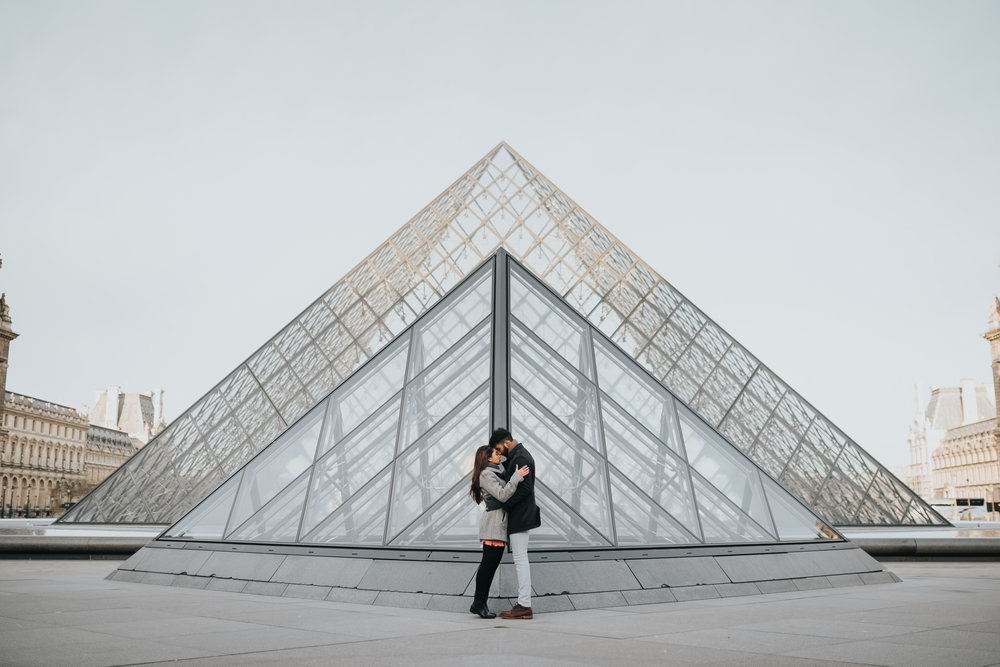 Engagement Photography At The Louvre In Paris France