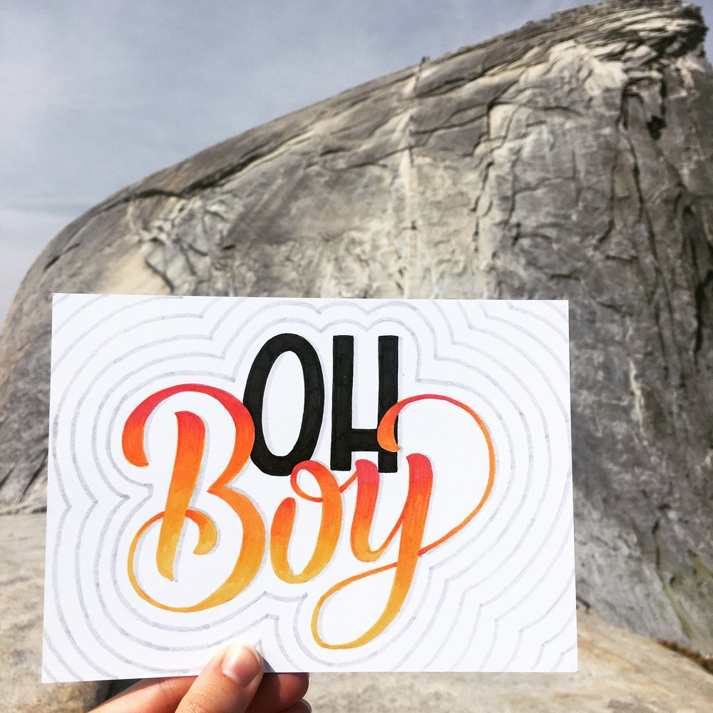 I felt that climbing Half Dome in Yosemite deserved its own postcard.