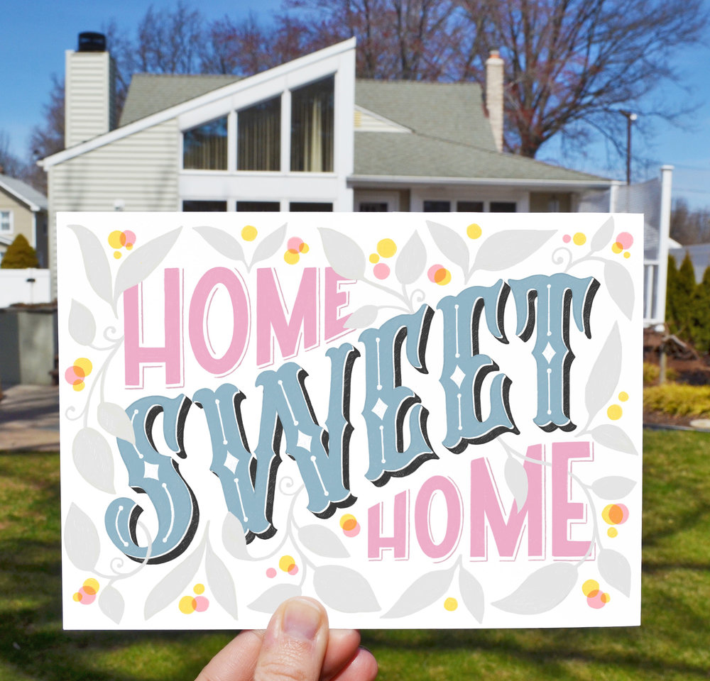 Ok so this is technically not a travel piece but I wanted to make one of my postcards for my first home,  just because.