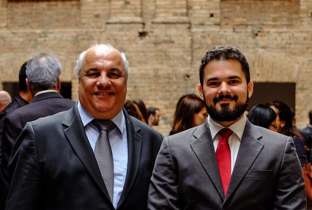Antonio Carlos - Presidente da ABCERAM; e João Neto