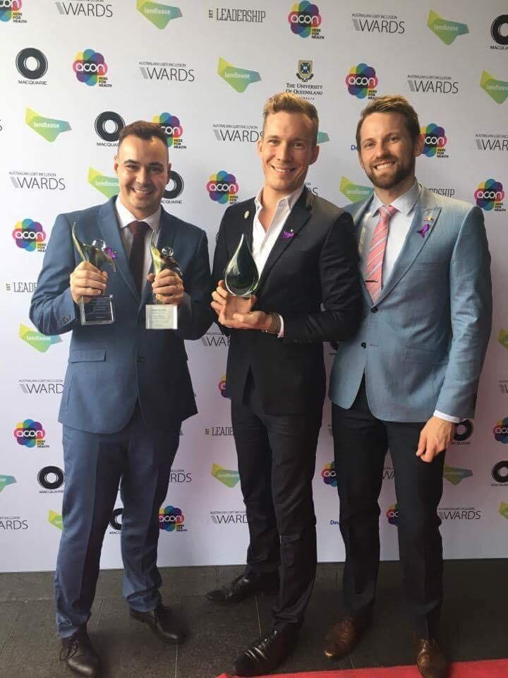 LGBTI Inclusion Awards 2017 - Two of our coaches, Mel Rippon and Damien Hicks received the Coach of the Year award for their work with the Brisbane Tritons and Brisbane Barracudas, helping break down barriers and open more oppurtunities for the Tritons in the water polo community.