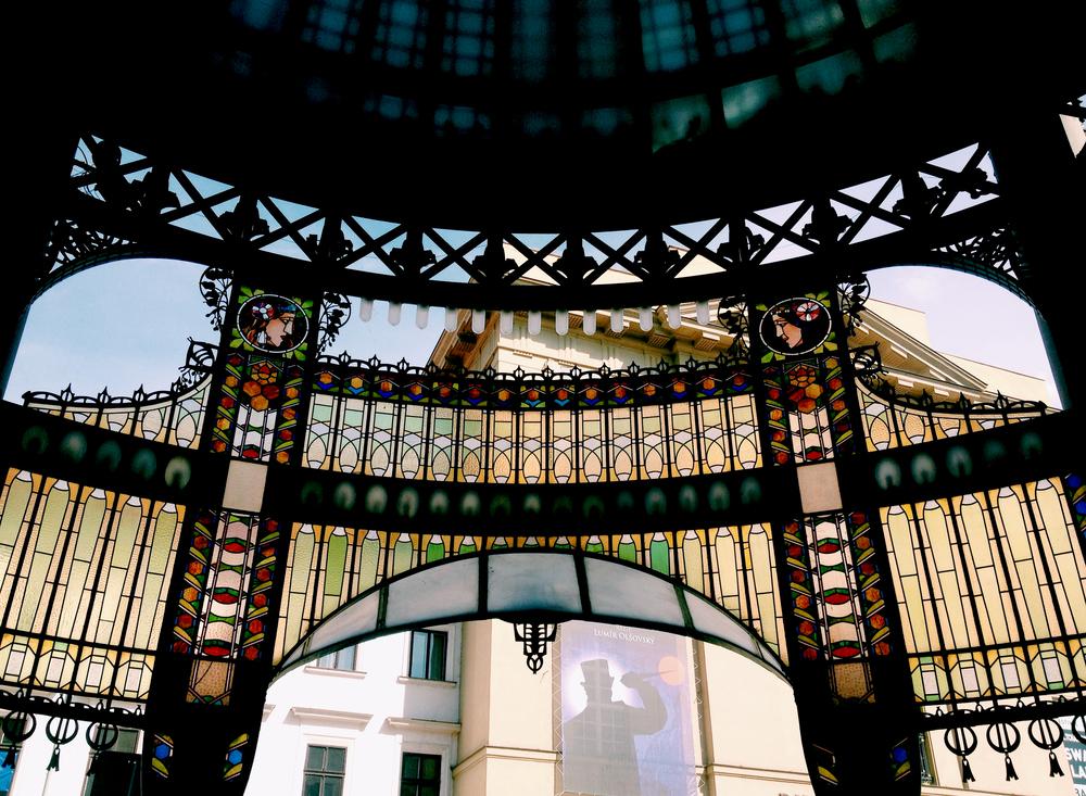Art Nouveau style arch