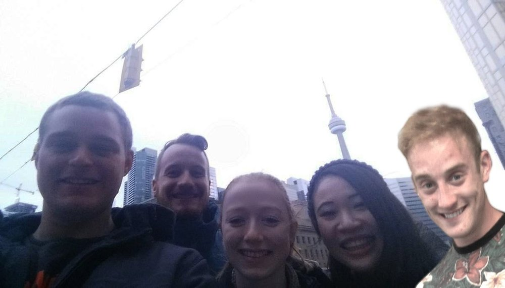 My Toronto gang: Allan, Dan, Emma, me and photoshopped Riley 🤣