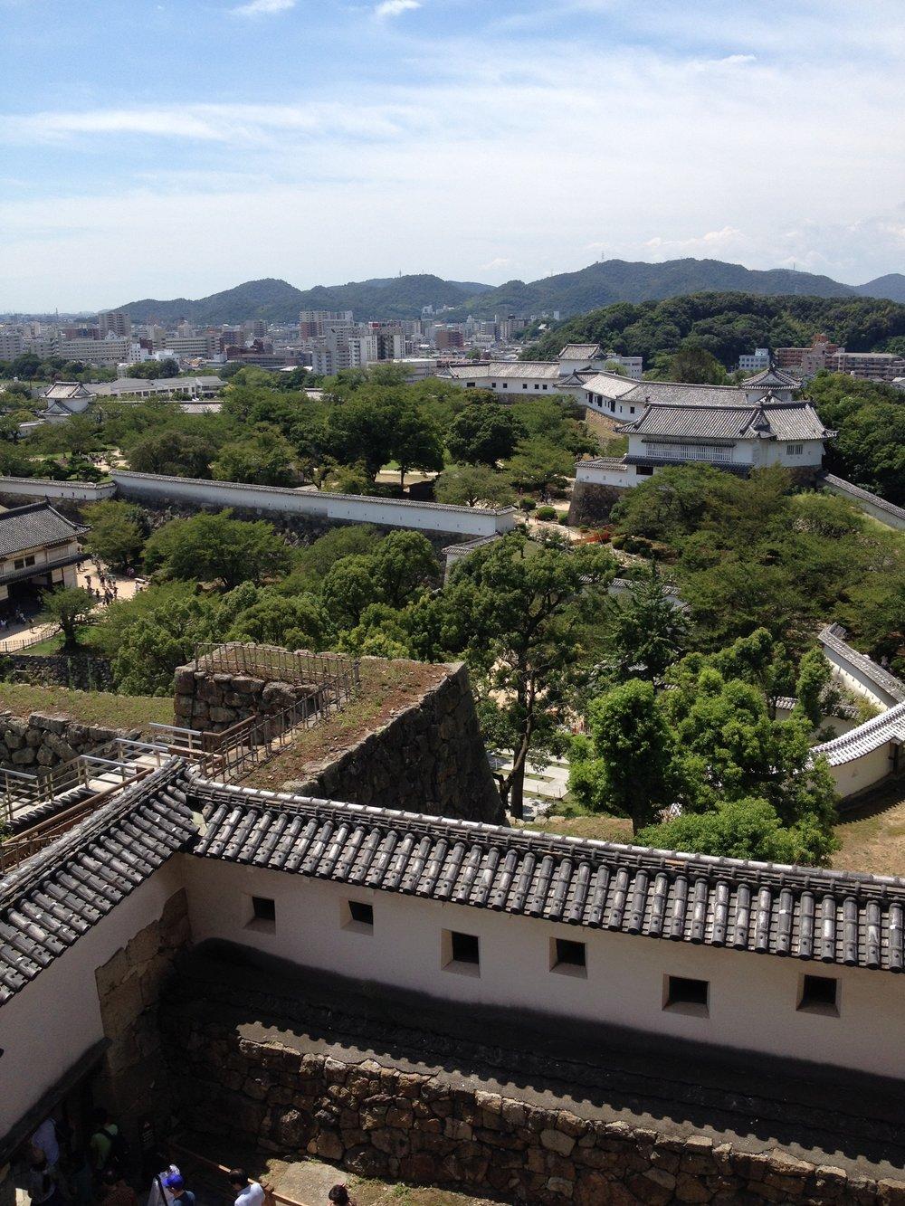 Overlooking Himeji city