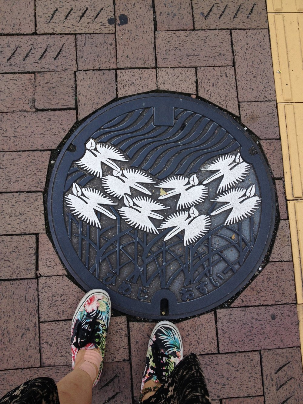 Manhole in Japan is a work of art