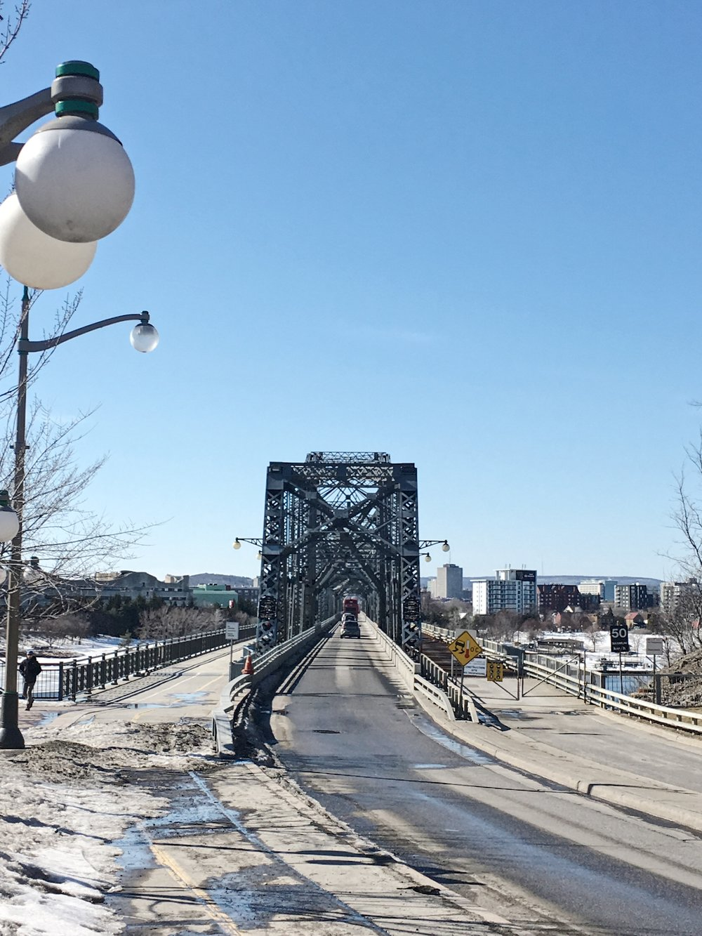 Alexandra Bridge, the other side is Quebec