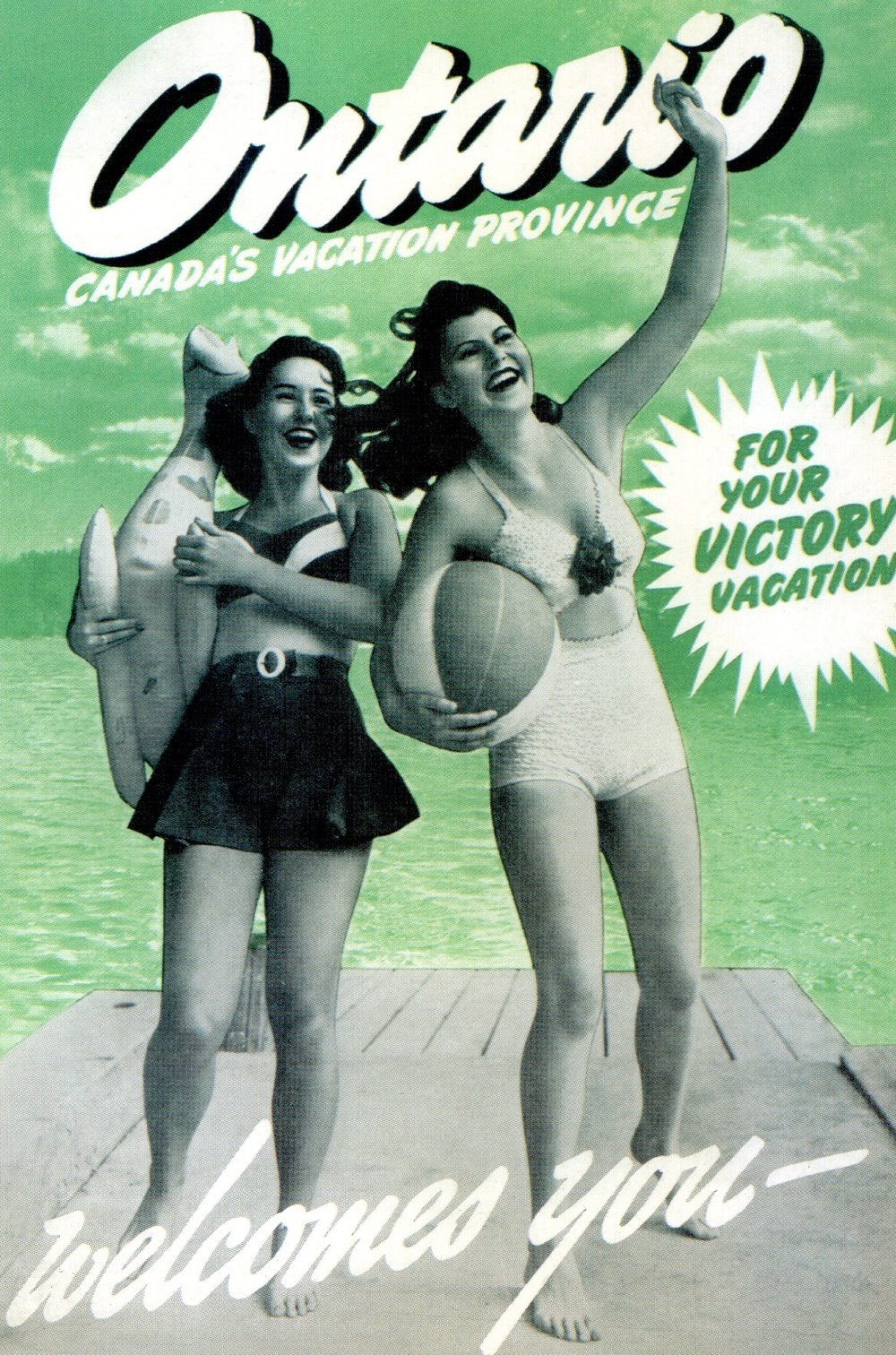 Ontario tourism booklet promoting post-war vacation in 1946. Publisher: CJ Gendron Collection