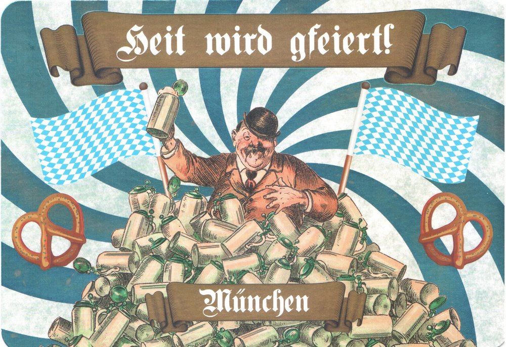 "Bavarian dialect for ""Today we'll be celebrating."" Publisher: Allegro Edition"