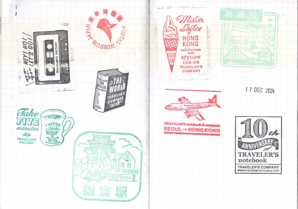 Stamps from JR and Traveler's Factory