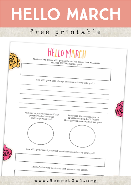 HELLO MARCH Free Printable And Monthly Review