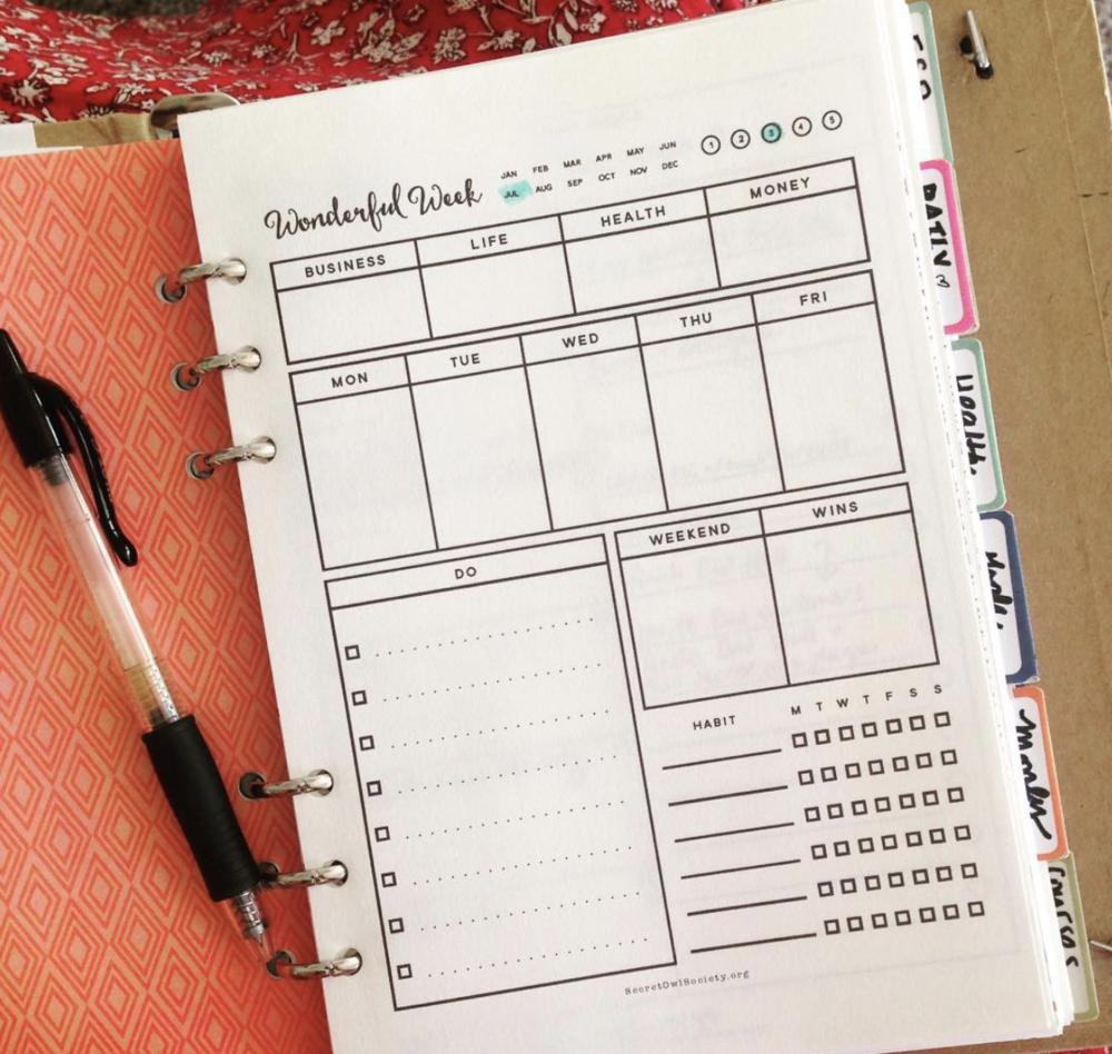 Free Printable, Weekly Planner