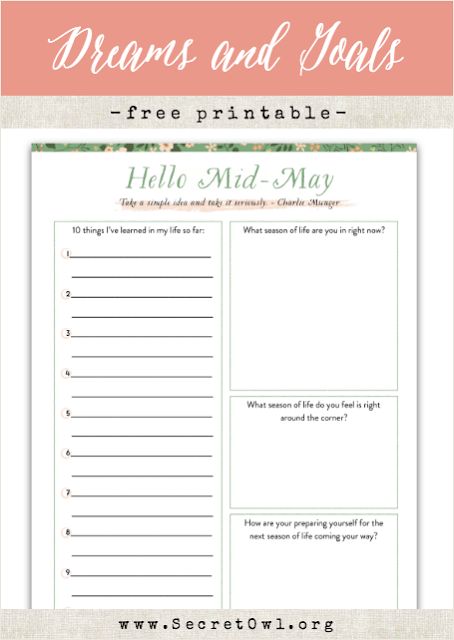 Hello Month Printable May