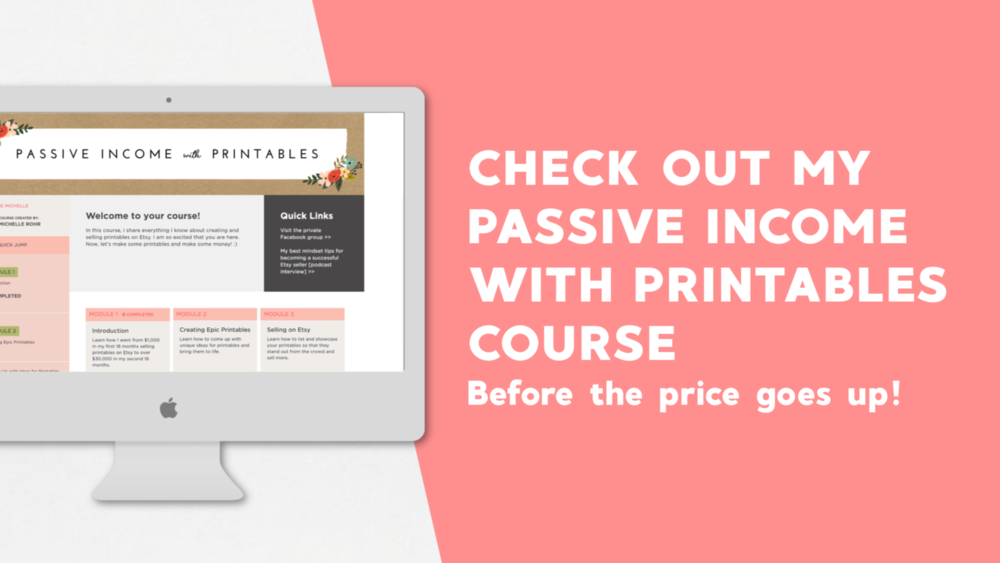 Passive Income with Printables Course