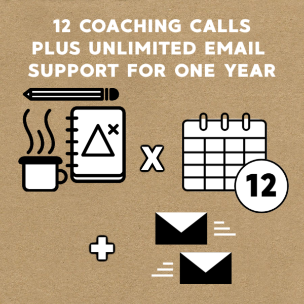 $2000 - Want extra guidance and feedback between your coaching calls? Get unlimited access to my help via email for one year.