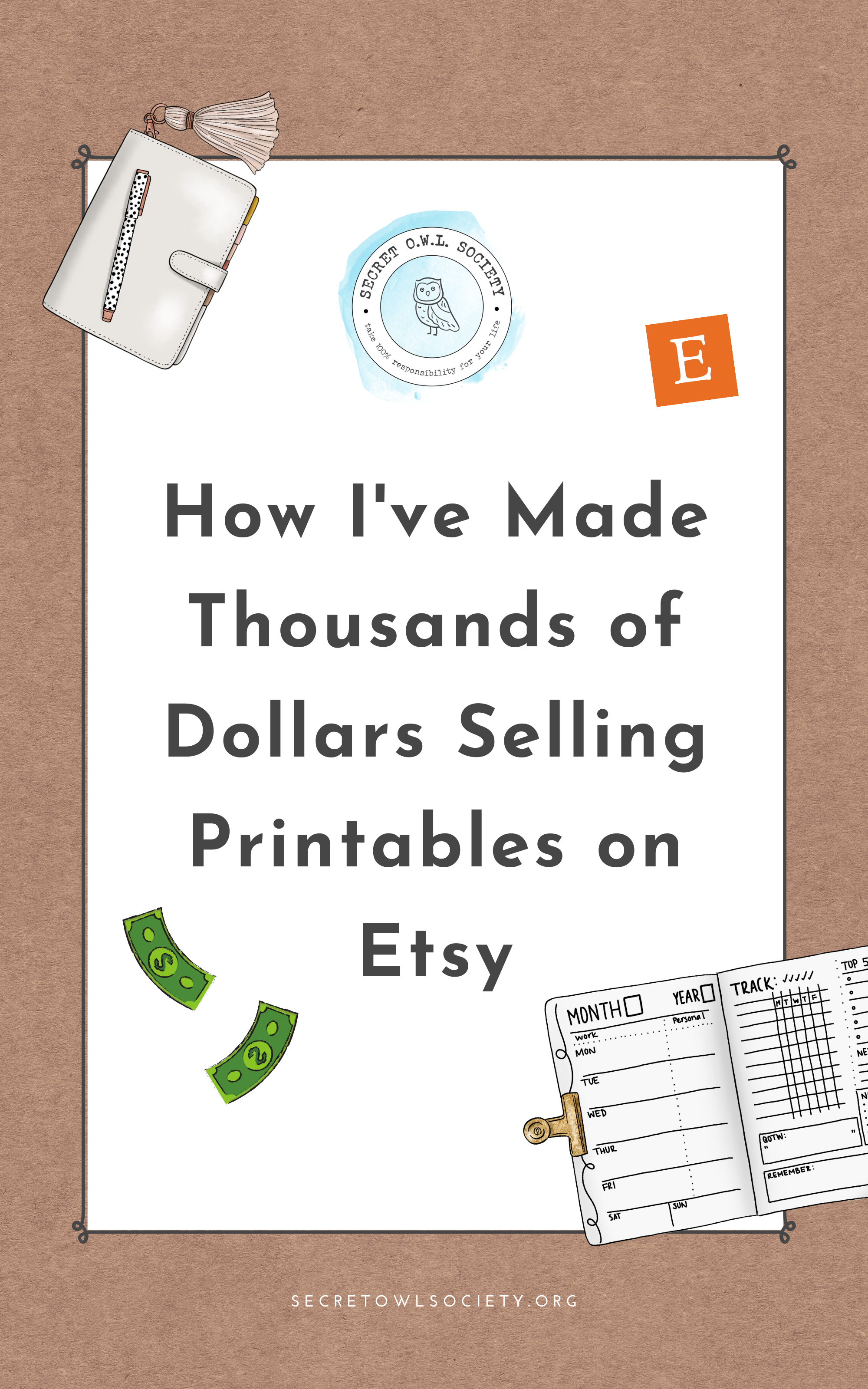image relating to Etsy Printables identify How I Generated Earlier mentioned $30,000 Promoting Printables upon Etsy Key
