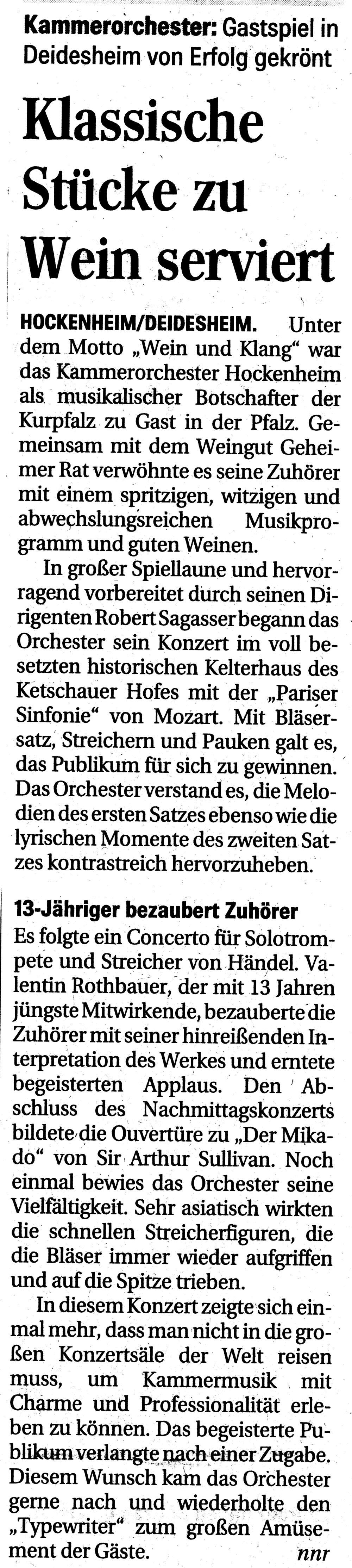 Hockenheimer Tageszeitung vom 27. Mai 2015