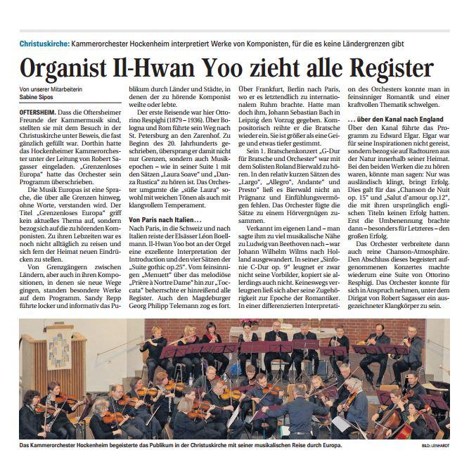 Mit freundlicher Genehmigung der Hockenheimer Tageszeitung vom 03. 5. 2016