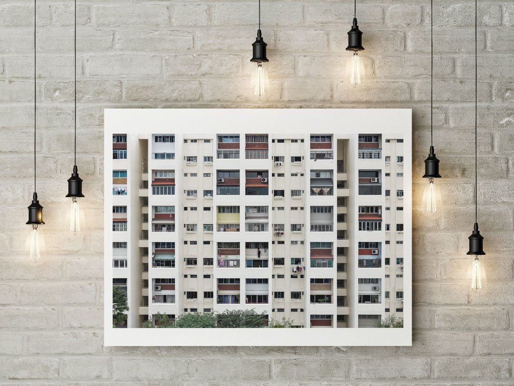 singapore housing front wall mounted print cafe restaurant hotel
