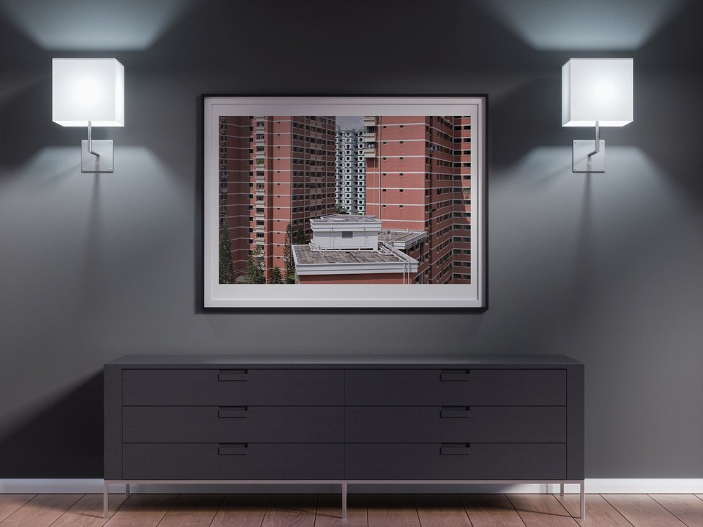 singapore housing front wall mounted print living room